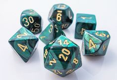 Scarab Dice (Jade Green) RPG role playing game dice