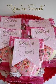 Simply This and that: You're Sweet Valentine Treat