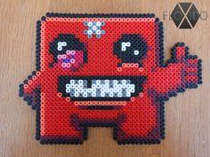 Super Meat Boy - Hama beads by floxido