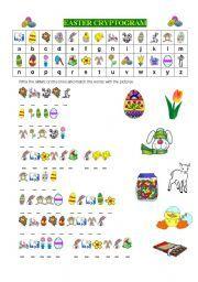 English worksheet: EASTER CRYPTOGRAM