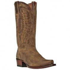 We have the shade darker of these boots in the store right now!!! Dan Post Cowboy Boots Mens Tan Snip Toe Tombstone