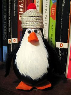 Penguin made from light bulb
