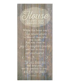 Loving this 'House Blessings' Wood Plaque on #zulily! #zulilyfinds