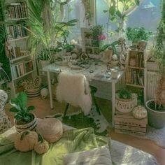 Room Design Bedroom, Room Ideas Bedroom, Bedroom Decor, Garden Bedroom, Deco Studio, Indie Room, Pretty Room, Cute Room Decor, Cozy Room