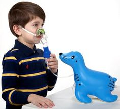Sami the Seal Compressor Nebulizer System by Respironics: Kid friendly! #Seal_Nebulizer #Respironics