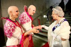 Adele, Queen Liz, Bald Heads, Elisabeth, Look Alike, Art Fair, Got Married, Female, Couples