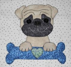 You have to see More Dog Faces Quilted Wall Hangings by Hair of the Dog!
