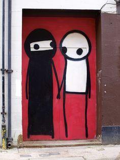 Graffiti by Stik, London