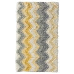 "Threshold™ Watercolor Chevron Bath Rug - Sun Eclipse (20x34"")"