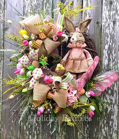 Bunny Easter Wreath by Holiday Baubles