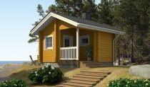 RANTASAUNA AINO 15 Kerrosala: 15 m2 Huoneistoala: 12 m2 Sauna, pesuhuone, pukuhuone, kuisti