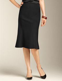 Seasonless Wool Trumpet Skirt
