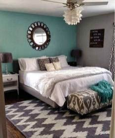50 Stunning Blue Bedroom Decorating Ideas To Bring Perfect Accent. The blue bedroom decorating ideas may be used not just to produce the bedroom attractive but the ideal location for getting a great n. Small Guest Rooms, Small Master Bedroom, Gray Bedroom, Trendy Bedroom, Bedroom Colors, Room Decor Bedroom, Bedroom Ideas, Bedroom Curtains, Bedroom Simple