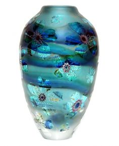 Aqua tall Crystal Cased glass vase from Jonathan Harris Studio Glass. Jonathan Harris, Vase Cristal, Art Of Glass, Cut Glass, Glass Ceramic, Glass Design, Hand Blown Glass, Colored Glass, Pots