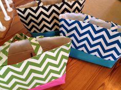 Teal Blue Turquoise Zigzag Chevron Pool Beach Bag Tote. $50.00, via Etsy.