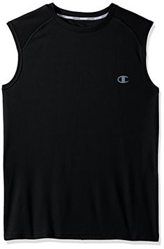 Champion Mens Vapor Select Muscle Tee with FreshIQ Black 2XL *** Read more reviews of the product by visiting the link on the image. #MenFashion