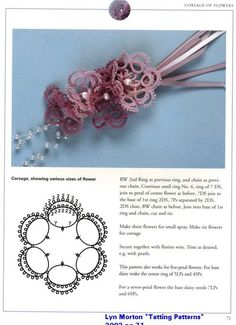 Patterns Free Bead Tatting | Tatting Pattern Central - Links to Free, Online Plant & Flower Tatting ...