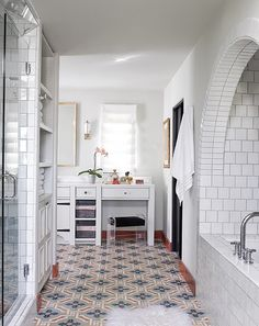 Those floors and vanity stool! So chic and elegant. LOVE