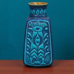 german pottery / blue peacock - Google zoeken