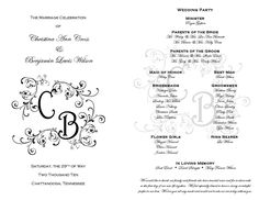 35 best printable wedding programs images on pinterest printable
