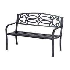 Garden Bench Flowering Pattern Decorative Patio Yard Furniture Seat Home NEW