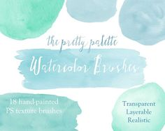Pretty Palette PS Watercolor Brushes by StudioChelsea on @creativemarket