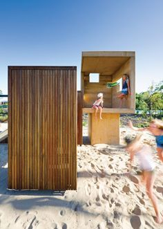 beach play huts