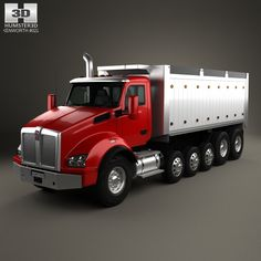 Kenworth T880 Dump Truck 6-axle 2013 3d model from humster3d.com. Price: $75