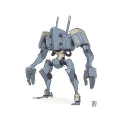 The Pictomancer: Mech sketch - André Brown Mealha