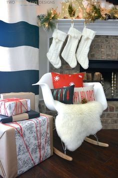 Christmas Mantel Tour by Two Thirty~Five Designs
