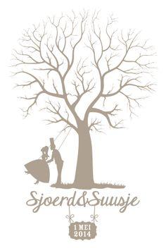 Gastenboek voor bruiloft! V.a 34,95 Voor een uniek ontwerp ga naar: www.vormgevoel.nl en info@vormgevoel.n