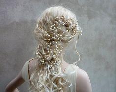Svatební spona do vlasů Claudine champagne gold