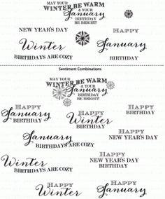 Birthday Classics: January Mini Stamp Set