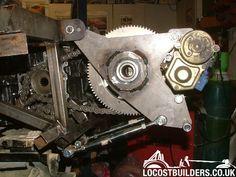 PUENTE - GRUPO - EJE TRASERO - Como acoplar un diferencial a un motor de moto. - Foro Prototipos E2 - El Garaje de los Inventos. Go Kart Buggy, Chain Drive, Motor Car, Mini, Tricycle, Bicycles, Homemade Tools, Soldering, Garage