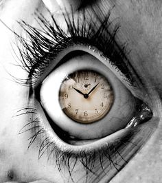 Time to Go, eye, clock, auch, panic, fantasy art, illumination, beauty, beautiful,
