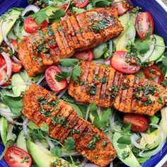 Grilled salmon and avocado salad with a spicy cumin lime cilantro dressing Recip. Salmon Salad, Avocado Salad, Octopus Recipes, Fish Recipes, Recipies, Ceviche Recipe, Shrimp Ceviche, Cilantro Dressing, Empanadas Recipe