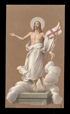 "santino-holy card""""ediz. FB*  n.1729 GESU' RISORTO"