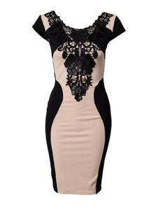 Gorgeous Color Contrast Lace Tight Sexy Summer Dresses For Women