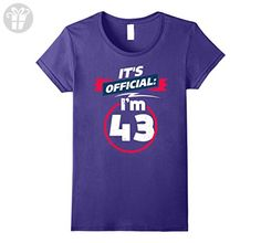 Womens 43 Year Old T Shirt 43rd Birthday Present Idea Tee Shirt Small Purple - Birthday shirts (*Amazon Partner-Link)