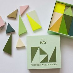 These charming wooden blocks, designed by Lee Storm for Danish brand HAY, come in a set of 16 colorful geometric shapes and sizes. Wooden Wonderland is a playground for design enthusiasts, so they don't just delight children! The many colors and shapes… Baby Toys, Kids Toys, Deco Design, Wooden Blocks, Wood Toys, Educational Toys, Geometric Shapes, Stationery, Design Inspiration
