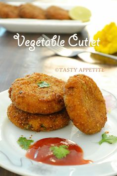Tasty Appetite: VEGETABLE CUTLET RECIPE - HOW TO MAKE VEGETABLE CUTLET / STEP-BY-STEP RECIPE / KIDS FRIENDLY SNACKS