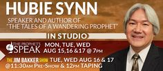"Hubie Synn who prophesied over Rabbi Jonathan Cahn will return to Morningside as our featured guest on ""The Prophets Speak"" August 15th - 17th at 7:00 PM CT each night! If you can't be here in person for this event, we would like to highly encourage you to join us on the live stream to hear Hubie speak! https://jimbakkershow.com/watch-us-live/"