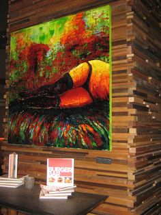 A photo of one of my paintings from Sleek Ultra Lounge by Chef Hubert Keller, previously in Lumiere Casino, St.Louis