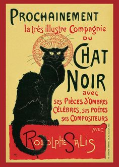 Vintage Prochainement Tournee Du Chat Noir Poster, 1896 - Art Print - 7.125 x 10.000 / Picture Rag