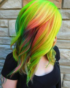 UNICORN TRIBE MEMBER @kayla_thehairwizard NEON BOMB!!! SHOW SOME UNICORN LOVE AND GIVE HER A FOLLOW! #unicorned #unicorns #unicorn #unicornhair #unicorntribe #unicorn