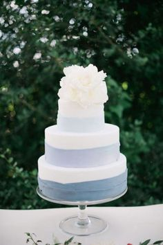 A minimalist's wedding cake dream. With dirty icing instead of fondant.