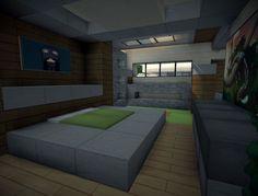 Modern villa Minecraft Project Minecraft bedroom Minecraft house designs Minecraft house tutorials