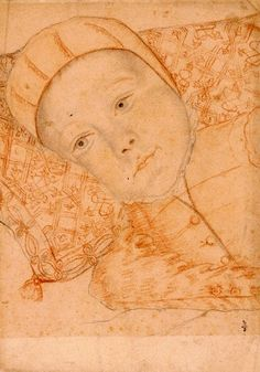 Unindentified Child of Catherine de' Medici and Henri II (possibly Alexandre-Edouard, the future Henri III), François Clouet (1510 – 1572, French)