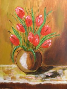 Acrylic Painting Flowers, Antique Pictures, Art Decor, Home Decor, Wood Art, Flower Art, Fiber, Hand Painted, Oil