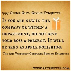 Retro Gift Giving Etiquette + Modern Guidelines for Office Gift Giving
